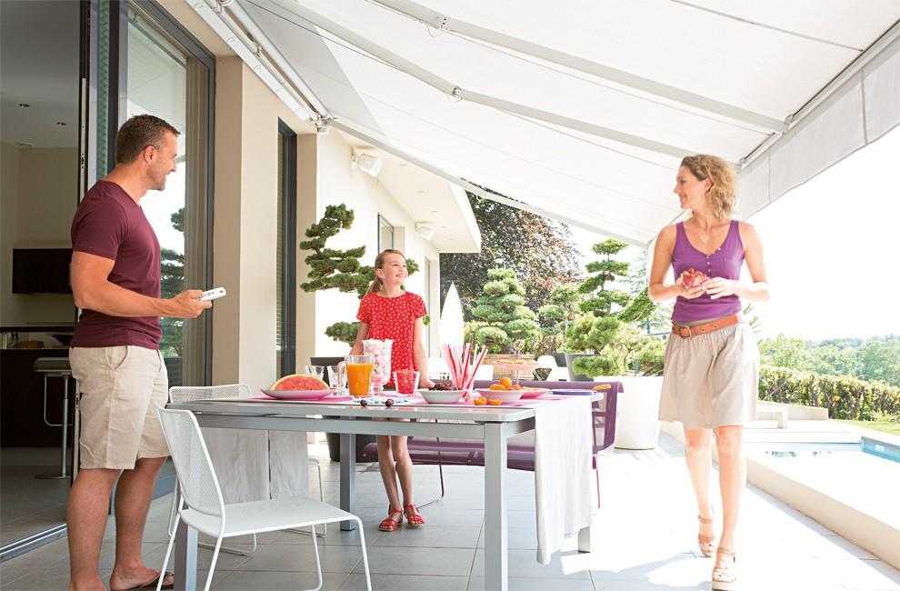 store de terrasse : somfy, domotique et motorisation de stores de ... - Prix Store De Terrasse