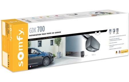 Porte garage lectrique somfy moteur lectrique pour for Branchement porte garage electrique